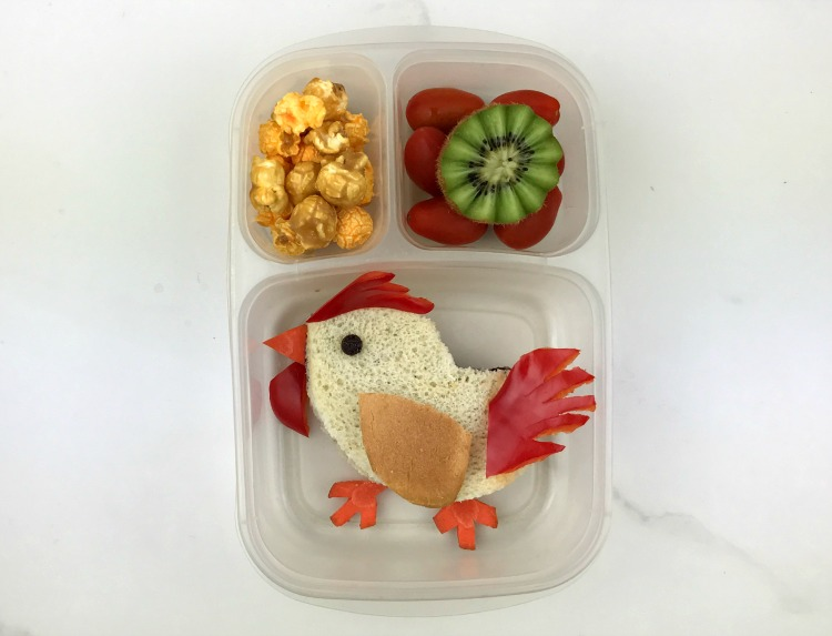 chinese new year rooster bento lunch more than your average mom. Black Bedroom Furniture Sets. Home Design Ideas